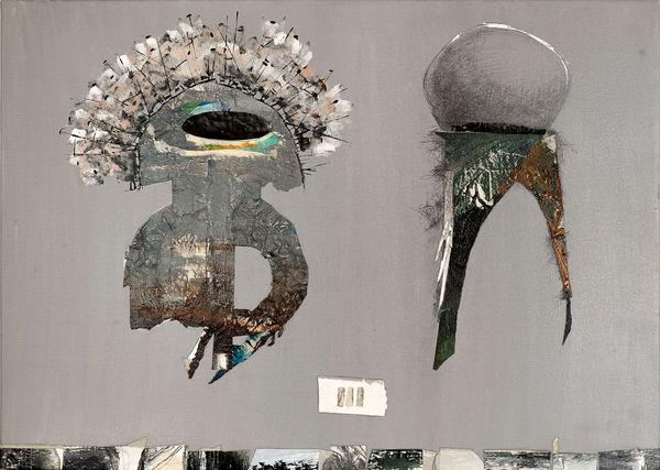 Bild Nr. 11973 — Andrea Lein (*1959): Einfaches Doppel (2014)