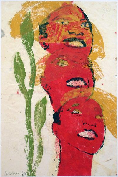 Bild Nr. 12900 — Ulrike Michaelis (1958-2015): Ohne Titel (Köpfe) (1998)