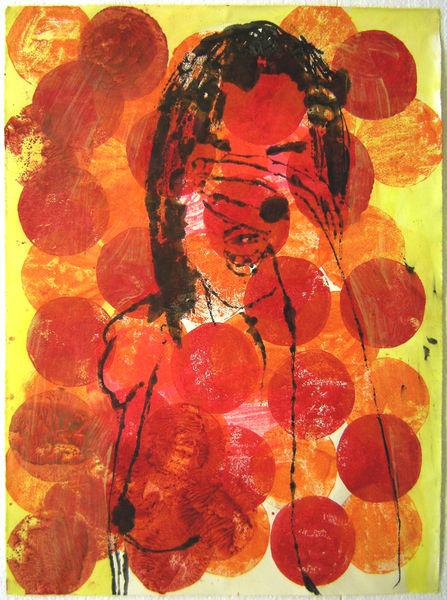 Bild Nr. 14015 — Ulrike Michaelis (1958-2015): Figur-Punkte (cry) (2009)