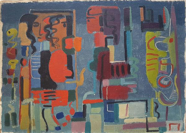 Bild Nr. 14919 — Max Ackermann (1887-1975): Begegnung (1946)