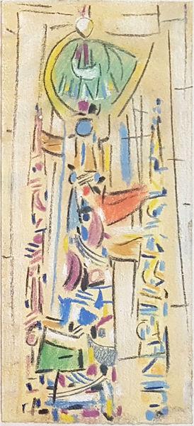 Bild Nr. 15163 — Max Ackermann (1887-1975): Ohne Titel (Glasfensterentwurf) (1954)