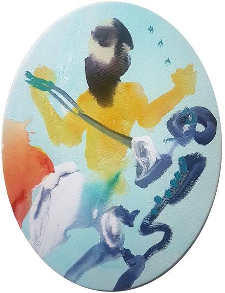 Bild Nr. 15200 — Robert Weissenbacher (*1983): Der Tod und der Künstler (2018)