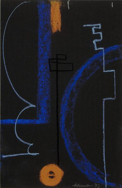 Bild Nr. 15206 — Max Ackermann (1887-1975): Ohne Titel (1973)