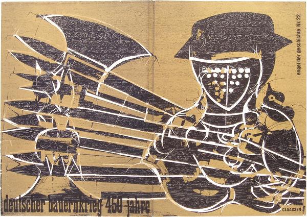Bild Nr. 11107 — HAP Grieshaber (1909-1981): HAP Grieshaber - Der Engel der Geschichte Nr. 22. 1975
