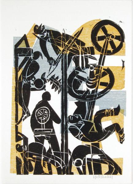 Bild Nr. 11108 — HAP Grieshaber (1909-1981): HAP Grieshaber - Der Engel der Geschichte Nr. 22. 1975