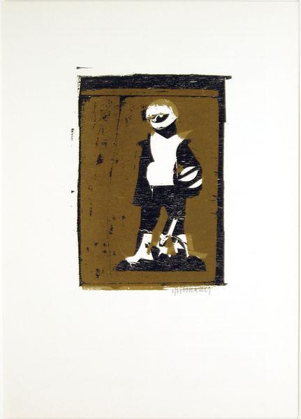 Bild Nr. 11109 — HAP Grieshaber (1909-1981): HAP Grieshaber - Der Engel der Geschichte Nr. 22. 1975