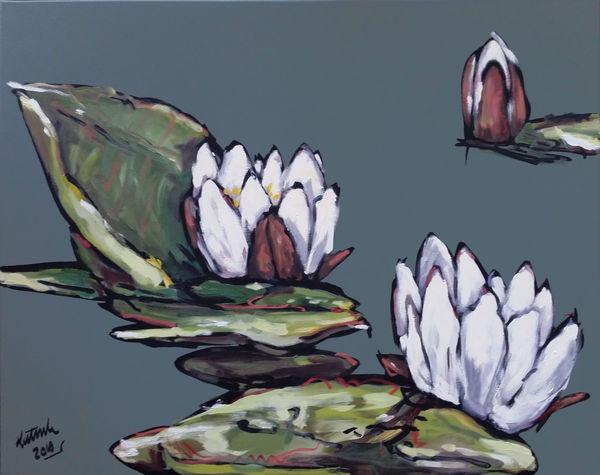 Bild Nr. 12006 — Wolfgang Häberle (*1951): Im englischen Teich (2010)