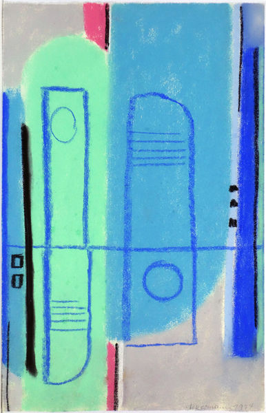 Bild Nr. 13854 — Max Ackermann (1887-1975): Ohne Titel (1974)