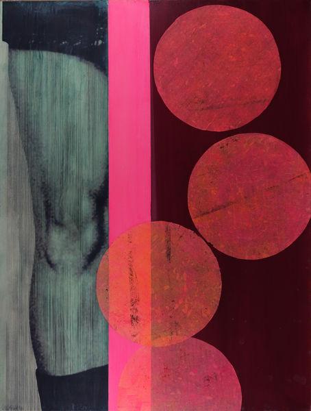 Bild Nr. 13860 — Ulrike Michaelis (1958-2015): Ohne Titel (Knie und Punkte) (2011)
