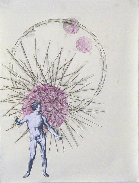 Bild Nr. 14011 — Ulrike Michaelis (1958-2015): Adam und Kreise, Sterne (2003)