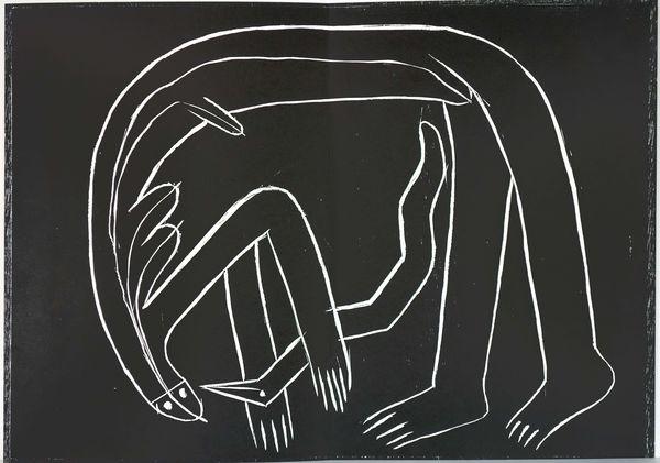 Bild Nr. 14239 — HAP Grieshaber (1909-1981): Der Engel der Geschichte 25: Engel der Behinderten