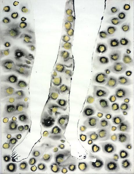 Bild Nr. 14404 — Ulrike Michaelis (1958-2015): Beine (Beine mit gelben Punkten) (1999)