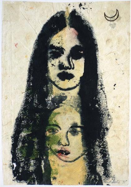 Bild Nr. 14857 — Ulrike Michaelis (1958-2015): Ohne Titel (Mädchen und Mond) (1995)