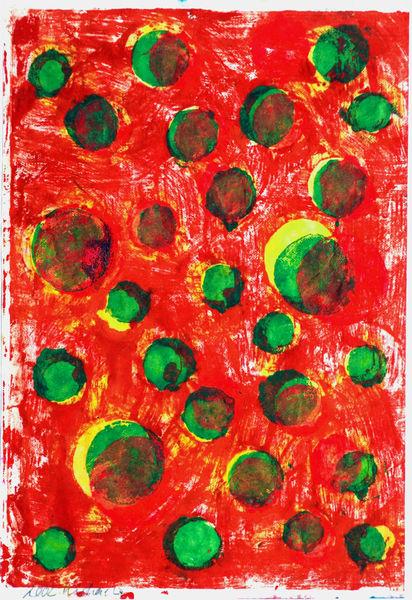 Bild Nr. 14858 — Ulrike Michaelis (1958-2015): Ohne Titel (Sonnen, Monde, Sterne) (2002)