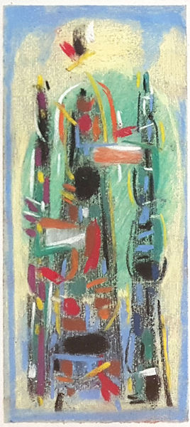 Bild Nr. 15160 — Max Ackermann (1887-1975): Ohne Titel (Glasfensterentwurf) (1954)