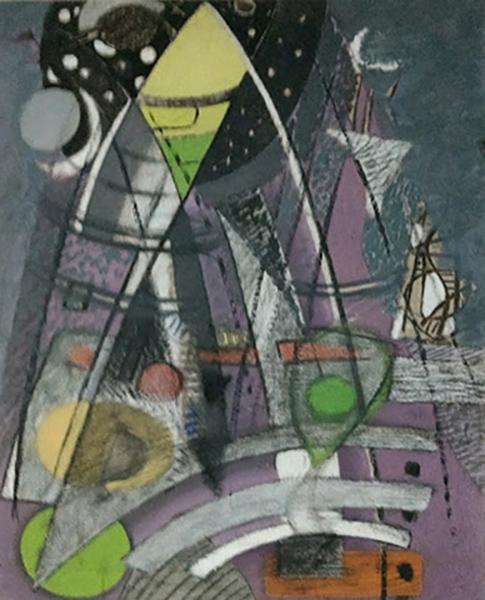 Bild Nr. 16273 — Max Ackermann (1887-1975): Ohne Titel (Thema: Über den Türmen) (1940)