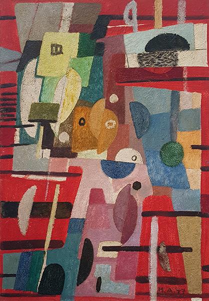 Bild Nr. 16275 — Max Ackermann (1887-1975): Gestaffeltes (1947)