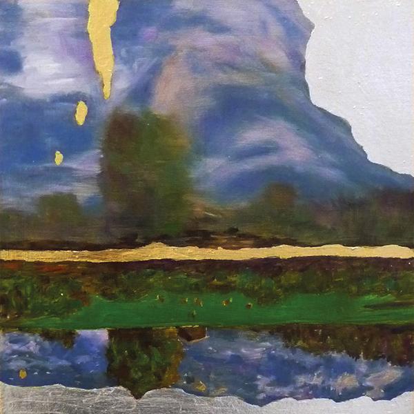 Bild Nr. 16313 — Dirk Klose (*1965): Silber-Gold-Idyll (Dolomiten) (2019)