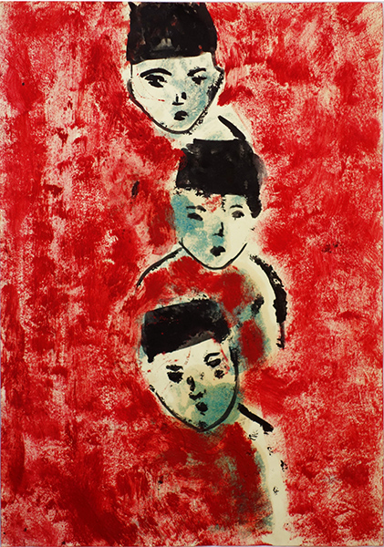 Bild Nr. 16363 — Ulrike Michaelis (1958-2015): Ohne Titel (Drei Köpfe) (1995)