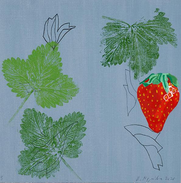 Bild Nr. 16684 — Rainer Nepita (*1954): Erdbeere 5 (2020)