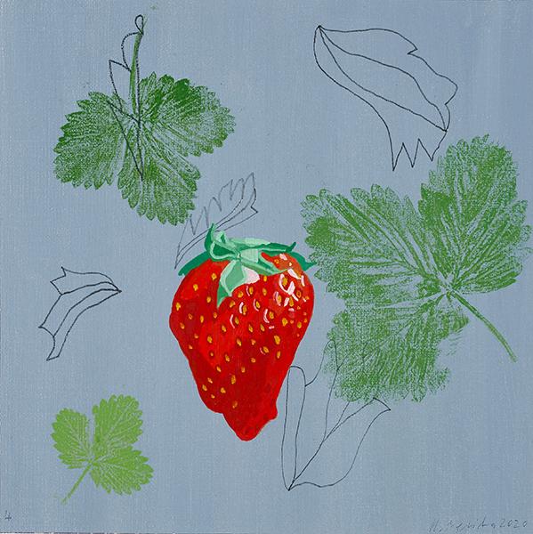 Bild Nr. 16686 — Rainer Nepita (*1954): Erdbeere 4 (2020)
