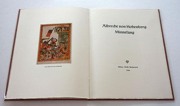 Bild Nr. 17125 — Albrecht von Hohenberg: Minnesang