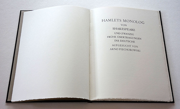Bild Nr. 17129 — Shakespeare: Hamlets Monolog von Shakespeare und zwanzig frühe Übertragungen ins Deutsche