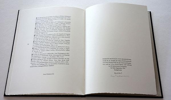 Bild Nr. 17130 — Shakespeare: Hamlets Monolog von Shakespeare und zwanzig frühe Übertragungen ins Deutsche