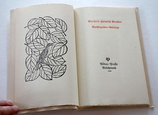 Bild Nr. 17132 — Barthold Heinrich Brockes: Nachtigallen-Gesänge