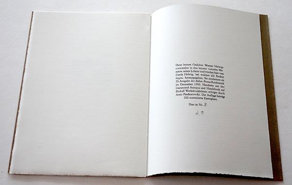 Bild Nr. 17143 — Werner Helwig: Letzte Gedichte