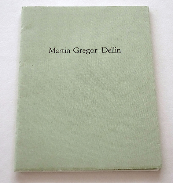 Bild Nr. 17146 — Martin Gregor-Dellin: Erinnerungen an Wörter