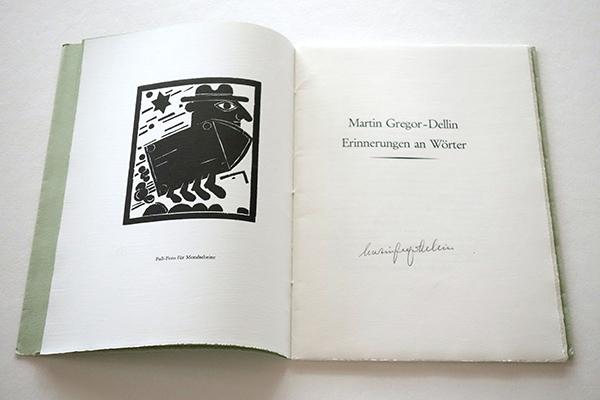 Bild Nr. 17147 — Martin Gregor-Dellin: Erinnerungen an Wörter