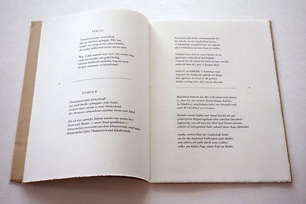 Bild Nr. 17150 — Elisabeth Eybers: Zwölf Gedichte. Afrikaanse Lyrik