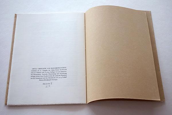 Bild Nr. 17151 — Elisabeth Eybers: Zwölf Gedichte. Afrikaanse Lyrik