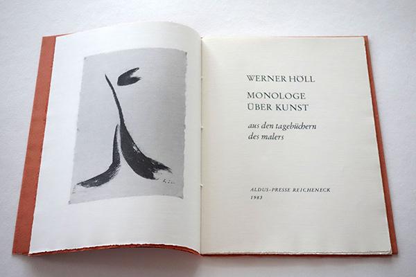 Bild Nr. 17153 — Werner Höll (1898-1984): Monolog über Kunst. Aus den Tagebüchern des Künstlers