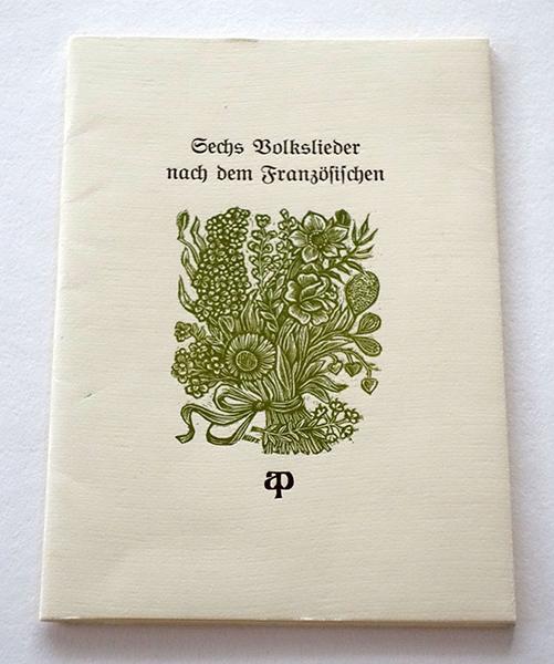 Bild Nr. 17157 — Manfred Hausmann: Sechs Volkslieder nach dem Französischen