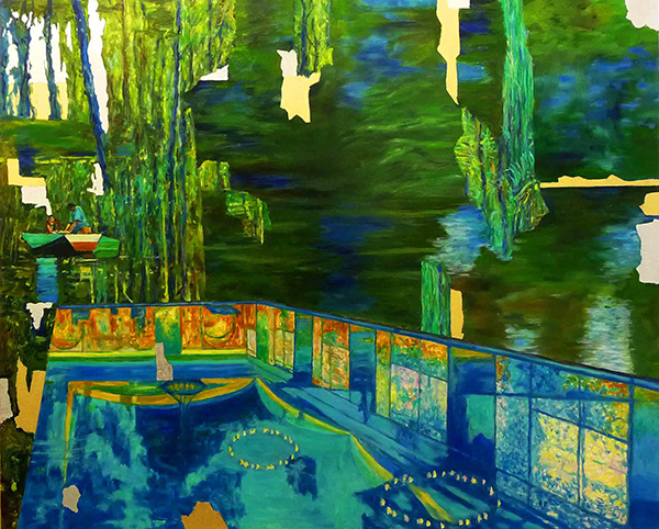 Bild Nr. 17704 — Dirk Klose (*1965): Global art und luxuary: Amazonasfischer, Pool Hotel Emerald Palace Kempinski Dubai (2021)