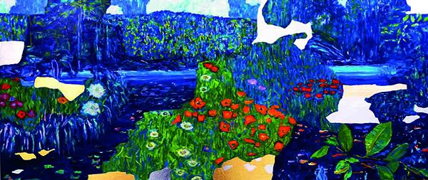 Bild Nr. 17706 — Dirk Klose (*1965): Global art and nature: Nationalpark Jaú (Amazonas), Variation zu G. Klimt (2019)