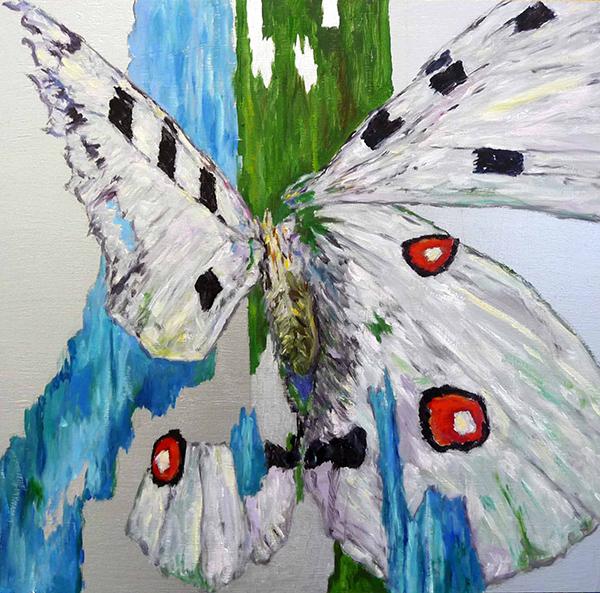 Bild Nr. 17707 — Dirk Klose (*1965): Shattered butterfly: Apollofalter (2021)