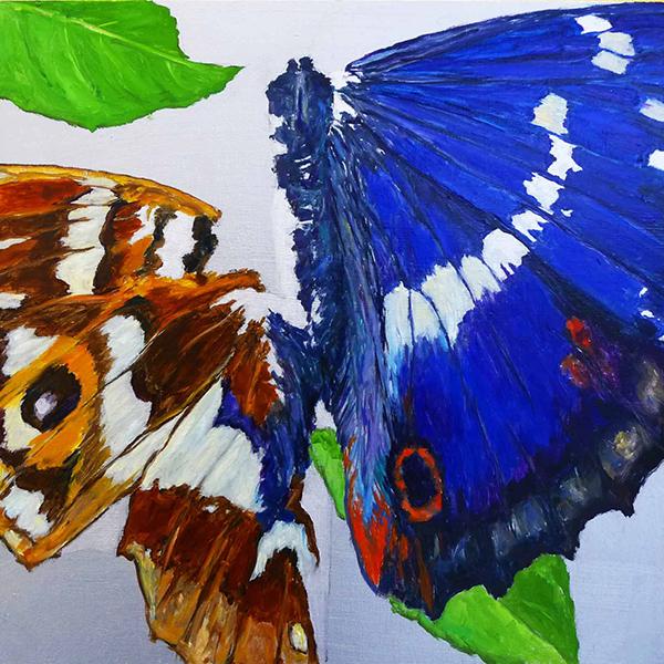 Bild Nr. 17708 — Dirk Klose (*1965): Shattered butterfly: Großer Schillerfalter (2021)