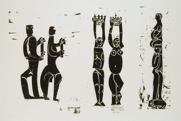 Bild Nr. 2067 — HAP Grieshaber (1909-1981): Zu Margarete Hannsmann: Schaumkraut (1980)