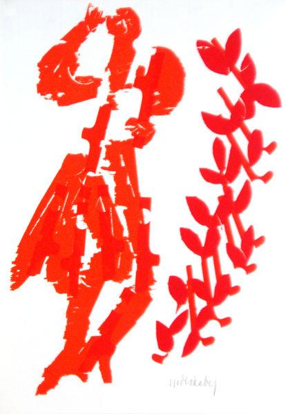 Bild Nr. 2071 — HAP Grieshaber (1909-1981): Fracischina (1965)