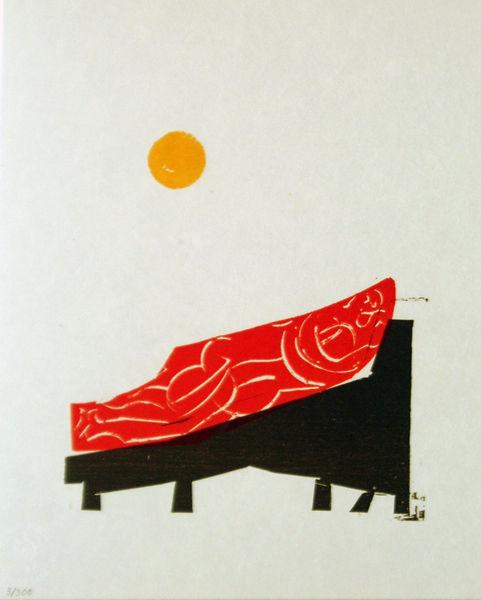 Bild Nr. 2075 — HAP Grieshaber (1909-1981): Hommage à Cantz (1980)