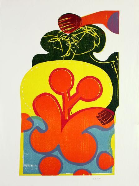 Bild Nr. 3818 — HAP Grieshaber (1909-1981): Hippieblume (1970)