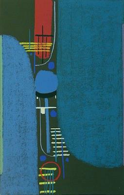 Bild Nr. 384 — Max Ackermann (1887-1975): Ohne Titel (1972)