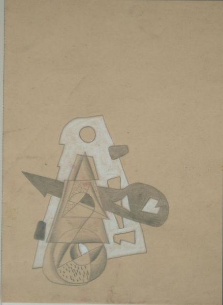Bild Nr. 6299 — Max Ackermann (1887-1975): ohne Titel (abstrakte Studie) (um 1915)