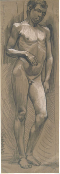 Bild Nr. 6301 — Max Ackermann (1887-1975): ohne Titel (Jünglingsakt) (um 1910)