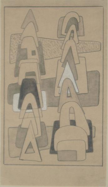 Bild Nr. 6303 — Max Ackermann (1887-1975): ohne Titel (rhythmisch getürmte Formen) (um 1930)