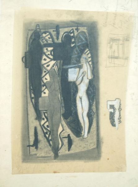 Bild Nr. 6308 — Max Ackermann (1887-1975): ohne Titel (Figurenkomposition) (um 1935)