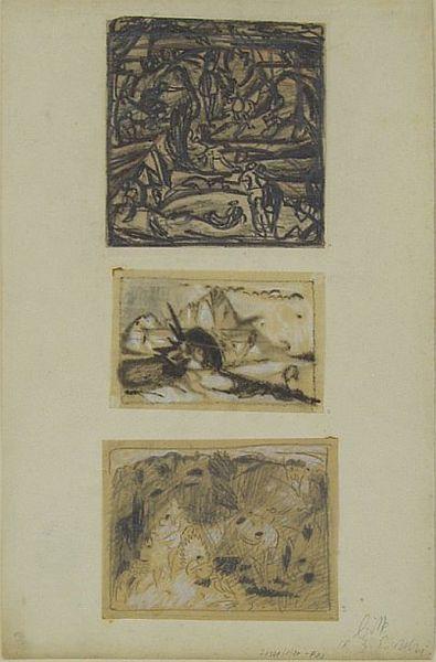 Bild Nr. 6789 — Max Ackermann (1887-1975): Konvolut dreier Zeichnungen